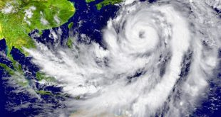 Depicted hurricane north of Australia. Elements of this image furnished by NASA