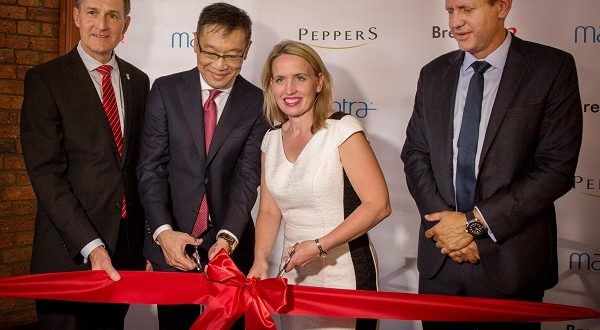 Ribbon cutting with Graham Quirk, Gregory Loh, Kate Jones and Bob East