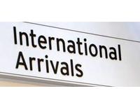 International Arrivals Sign
