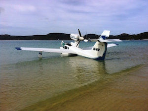 Blue Sky Airlines in water 1