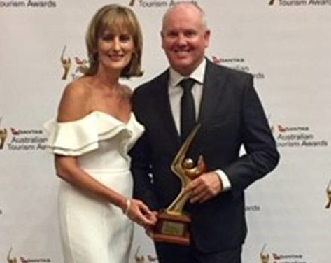 Photo of Gold, Silver, Bronze for BIG4 at Australian Tourism Awards
