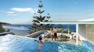 Guests enjoying a Hotel pool